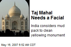 Taj Mahal Needs a Facial