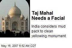 Taj Mahal Needs a Facial