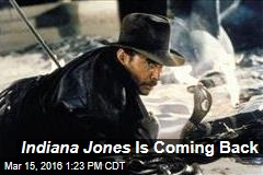 Indiana Jones Is Coming Back