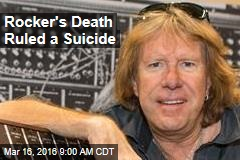 Rocker's Death Ruled a Suicide