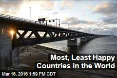 Most, Least Happy Countries in the World