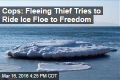 Cops: Fleeing Thief Tries to Ride Ice Floe to Freedom