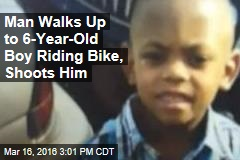 Man Walks Up to 6-Year-Old Boy Riding Bike, Shoots Him