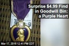 Surprise $4.99 Find in Goodwill Bin: a Purple Heart