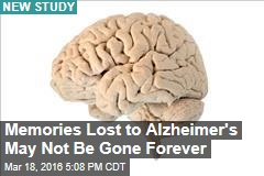Memories Lost to Alzheimer's May Not Be Gone Forever
