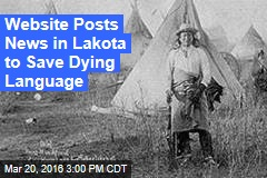 Website Tries to Preserve Dying Language in the Dakotas