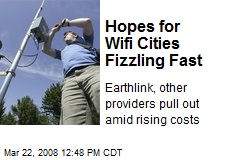 Hopes for Wifi Cities Fizzling Fast