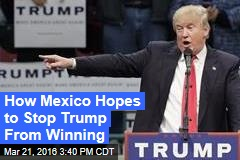How Mexico Hopes to Stop Trump From Winning