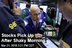 Stocks Pick Up After Shaky Morning
