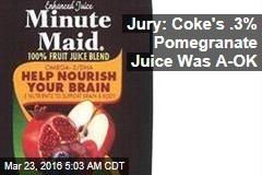 Jury: Coke's .3% Pomegranate Juice Was A-OK