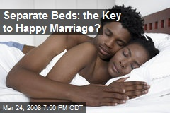 Separate Beds: the Key to Happy Marriage?