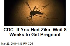 CDC: If You Had Zika, Wait 8 Weeks to Get Pregnant