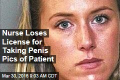 Nurse Loses License for Taking Penis Pic of Patient