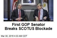 First GOP Senator Breaks SCOTUS Blockade