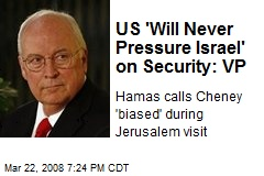 US 'Will Never Pressure Israel' on Security: VP