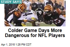 Colder Game Days More Dangerous for NFL Players