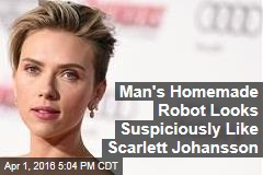 Man's Homemade Robot Looks Suspiciously Like Scarlett Johansson