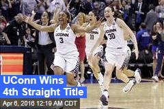 UConn Wins 4th Straight Title