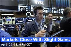 Markets Close With Slight Gains