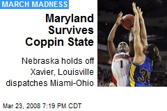 Maryland Survives Coppin State