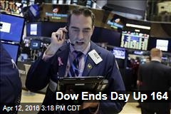 Dow Ends Day Up 164