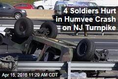 4 Soldiers Hurt in Humvee Crash on NJ Turnpike