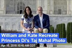 William and Kate Recreate Princess Di's Taj Mahal Photo