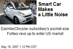 Smart Car Makes a Little Noise