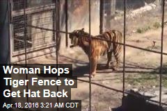 Zoo Visitor Hops Tiger Fence to Get Hat Back