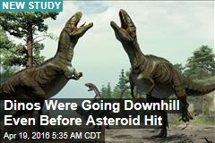 Dinos Were Going Downhill Even Before Asteroid Hit