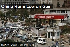 China Runs Low on Gas