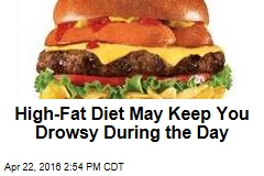 High-Fat Diet May Keep You Drowsy During the Day