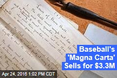 Baseball's 'Magna Carta' Sells for $3.3M