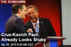 Cruz-Kasich Pact Already Looks Shaky