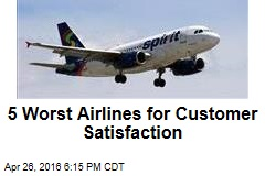 5 Worst Airlines for Customer Satisfaction