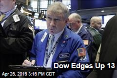 Dow Edges Up 13
