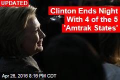 Clinton Takes 1 of the 5 'Amtrak States'