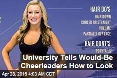 College Tells Would-Be Cheerleaders How to Look