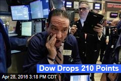 Dow Drops 210 Points