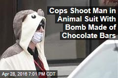 Cops Shoot Man in Animal Suit With Bomb Made of Chocolate Bars