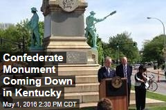 Confederate Monument Coming Down in Kentucky