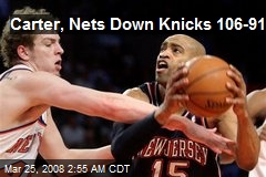 Carter, Nets Down Knicks 106-91