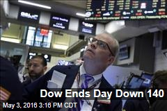 Dow Ends Day Down 140