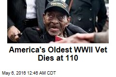 America's Oldest WWII Vet Dies at 110