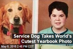 Service Dog Takes World's Cutest Yearbook Photo