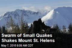 Swarm of Small Quakes Shakes Mount St. Helens