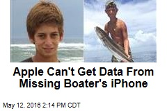 Apple Can't Get Data From Missing Boater's iPhone