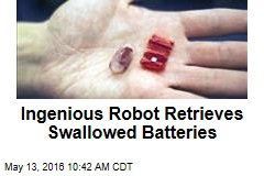 Ingenious Robot Retrieves Swallowed Batteries