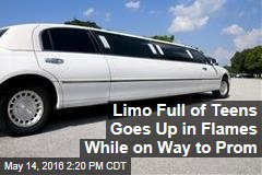 Limo Full of Teens Goes Up in Flames While on Way to Prom