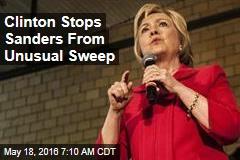 Clinton Avoids Unusual Sweep